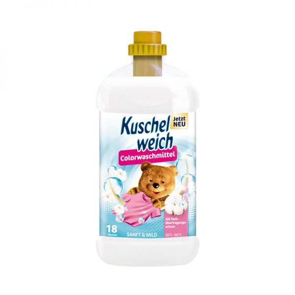 Kuschelweich tekutý prací prostriedok na farebné prádlo jemný 1,314 L 18 PD