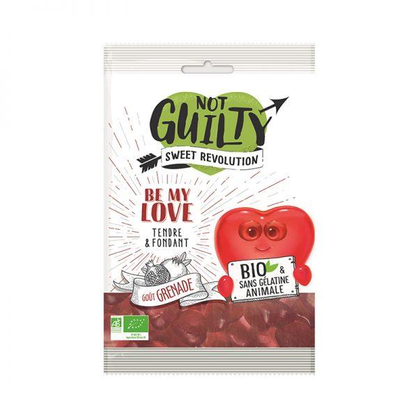 Not Guilty Be My Love Bio ekologické cukríky s príchuťou granátového jablka 100 g