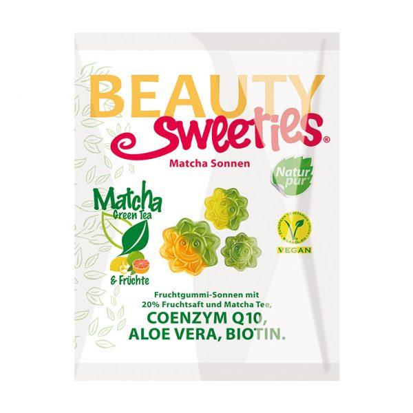 Beauty Sweeties VEGAN ovocné želé Matcha slniečka 125 g