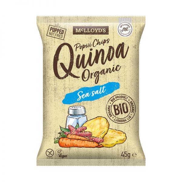 MC LlOYDS BIO Poppi chips čipsy z quinoy s kúskami mrkvy 45 g