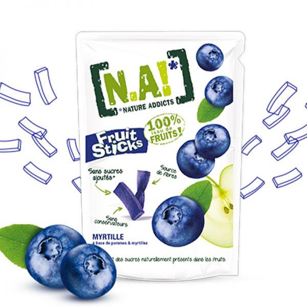 N.A! ovocné tyčinky Fruit Sticks Jablko & Čučoriedka 35 g