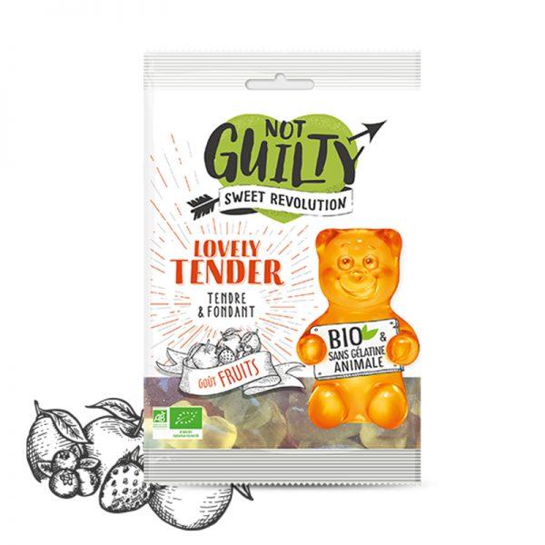 Not Guilty Lovely Tender ekologické cukríky s príchuťou ovocia 100 g