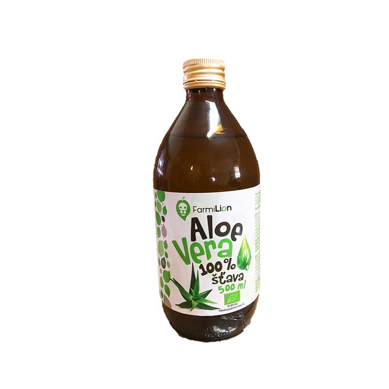 Farmilion Bio Aloe vera šťava 100% 500 ml