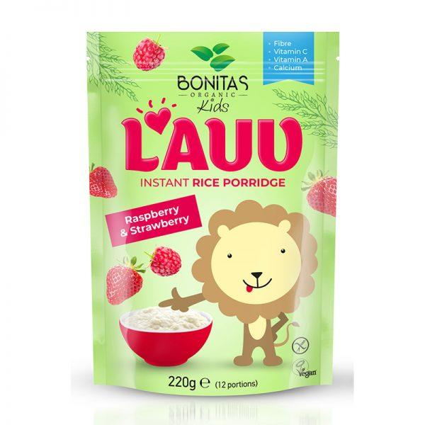 BONITAS ORGANIC BIO Ryžová kaša s jahodami a malinami LAUV 250 g