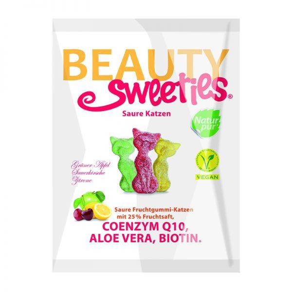 Beauty Sweeties VEGAN ovocné želé kyslé mačky 125 g