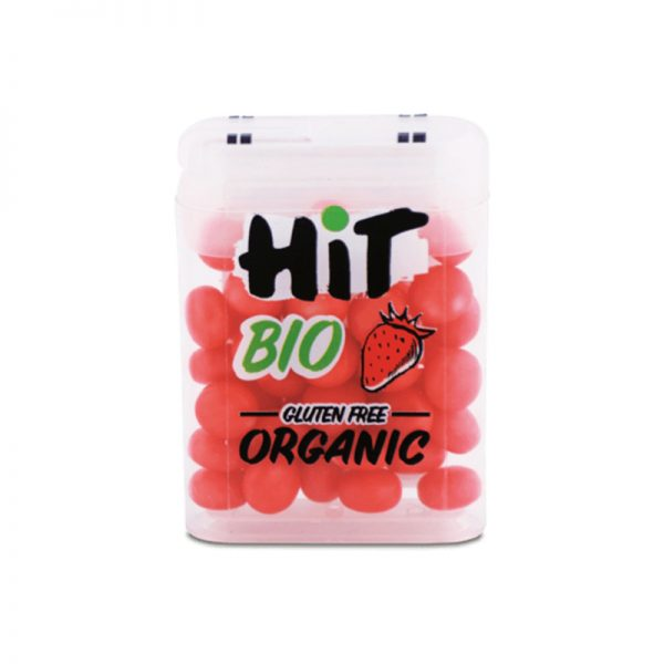 HIT BIO cukríky s príchuťou jahody 15 g