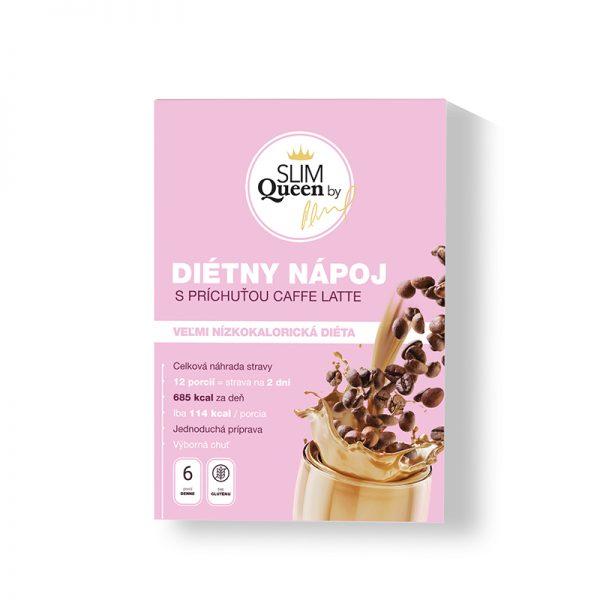 SLIM Queen Diétny nápoj s príchuťou Caffe Latte 384g
