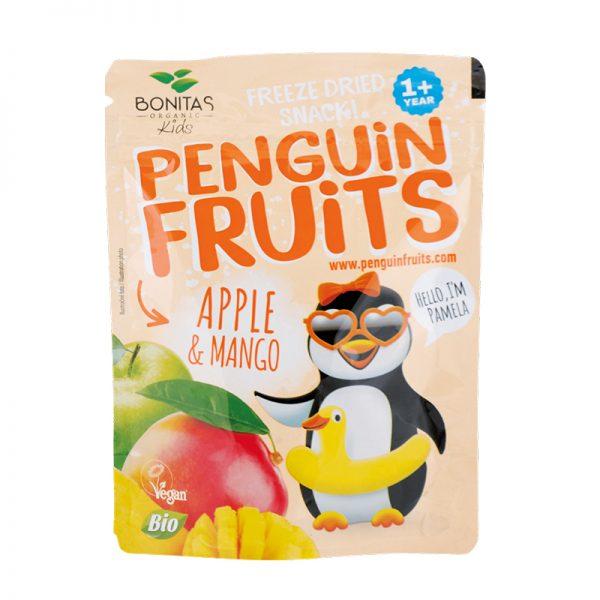 BONITAS ORGANIC BIO zmes sušených jabĺk a manga Penguin Fruits 15 g