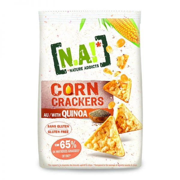 N.A! Kukuričné krekry Corn Crackers Quinoa 50g