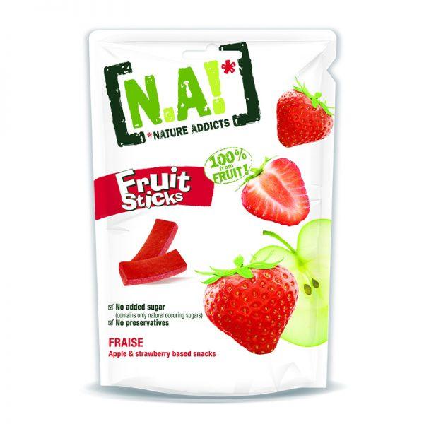 N.A! ovocné tyčinky Fruit Sticks Jablko & Jahoda  35g