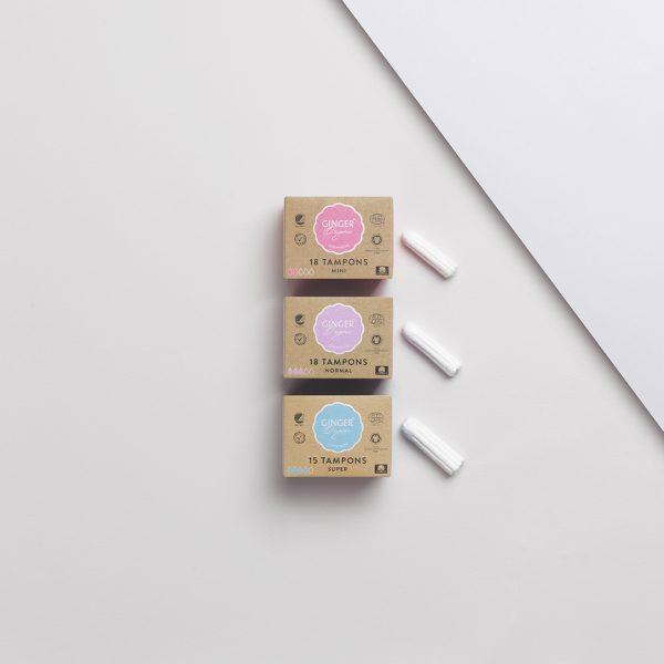 Ginger Organic mini tampóny 18ks