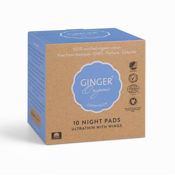 Ginger Organic vložky nočné 10 ks
