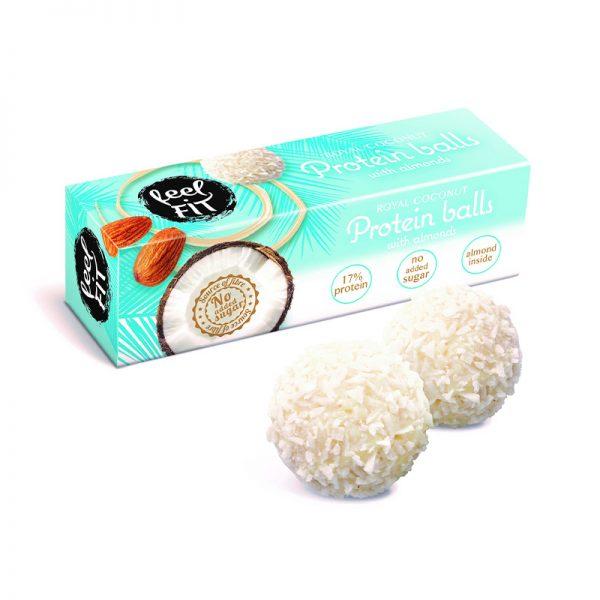 Feel FIT proteínové guličky s mandľami 27 g