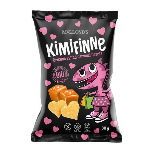 MC LlOYD´S Kimifinne Bio Kukuričné srdiečka  s príchuťou slaného karamelu 30 g