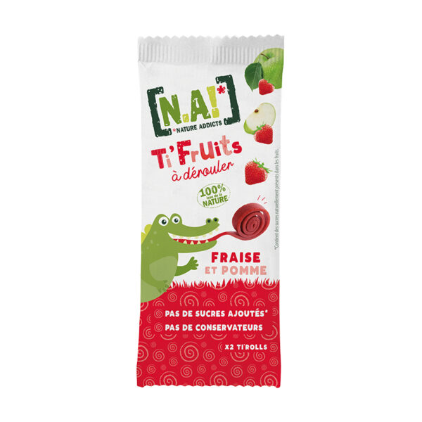 N.A! Ovocné rolky jahoda & jablko 18 g